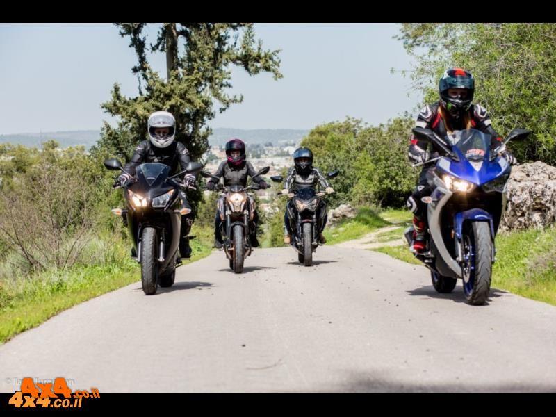 רוכבות מלידה - מבחן השוואתי על אופנועי ספורט קטנים