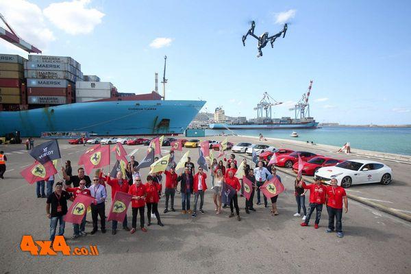 תמונה קבוצתית בנמל חיפה