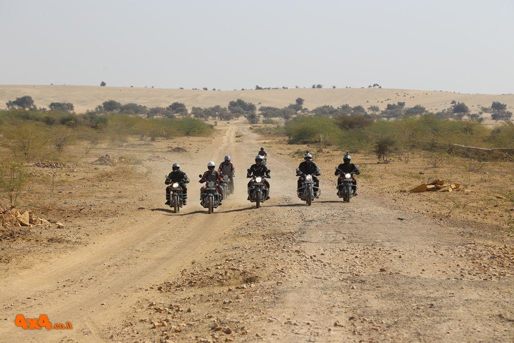 הודו - מסע אופנועים למדבר רג'יסטאן