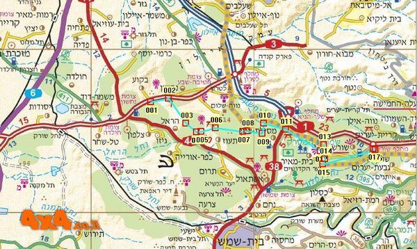מפת מסלול הטיול בקנ