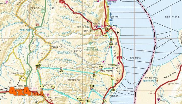 המפה הצפונית של המסלול