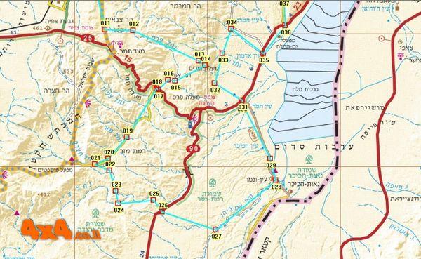 המפה הדרומית של המסלול