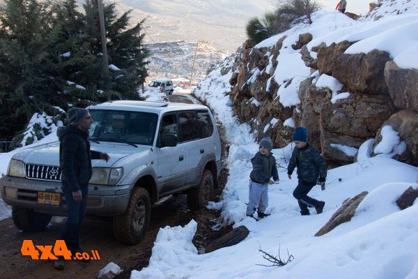 מפלים, בוץ, שלוליות ושלג ברמת הגולן - ינואר 2019