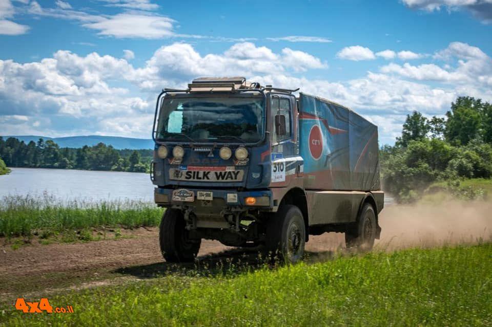 הישג לצוות הישראלי: מקום שביעי בראלי דרך המשי בקטגוריית המשאיות