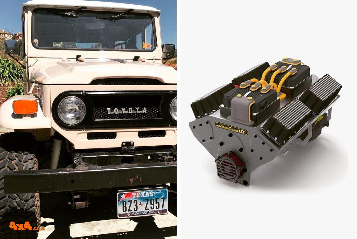 לנד קרוזר FJ40  - עם הנעה חשמלית