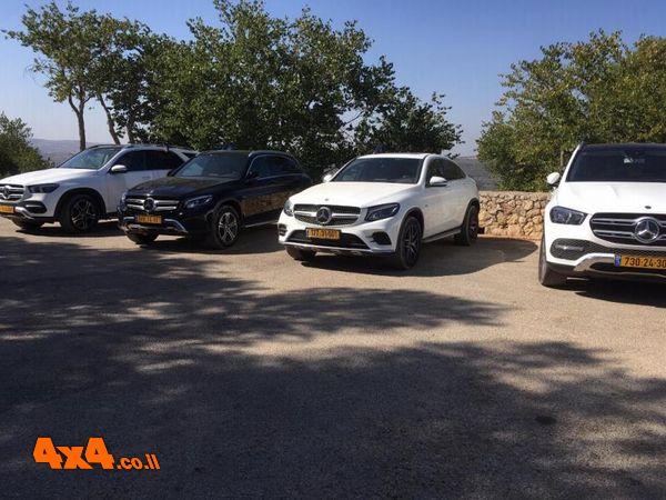 ה-SUV'S של מרצדס בהרי ירושלים