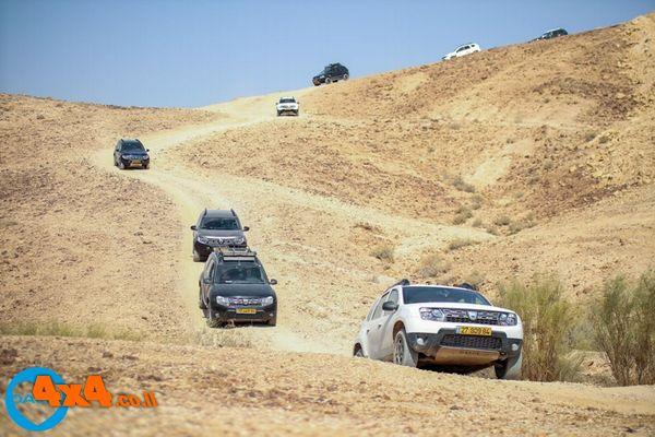 טיול דאצ'יה דאסטר 4X4 לדרום מדבר יהודה - קבוצה 1