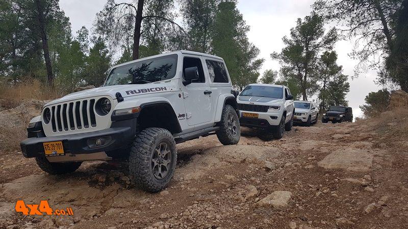 הדרכת נהיגה של מועדון Jeep ביער בן שמן - 15/11/2019