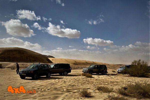 בתחילת הנסיעה במדבר מזג האויר האיר לנו פנים