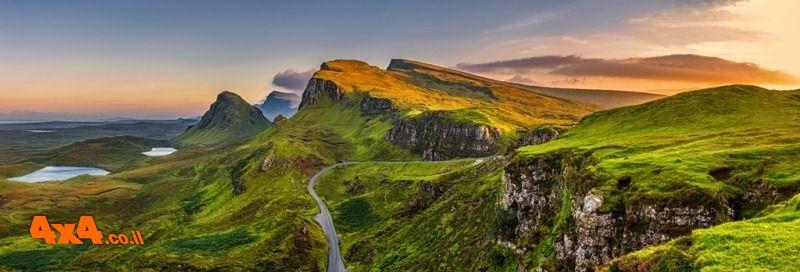 5 ימי נהיגת כביש במחוזות הוויסקי הסקוטי
