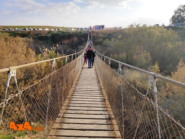 גשר החבלים מעל נחל הבשור