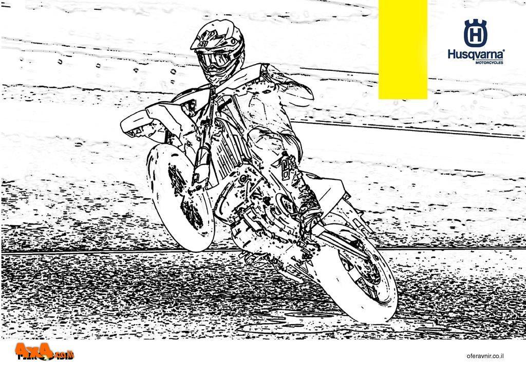 דפי צביעה אופנועי הוסקוורנה