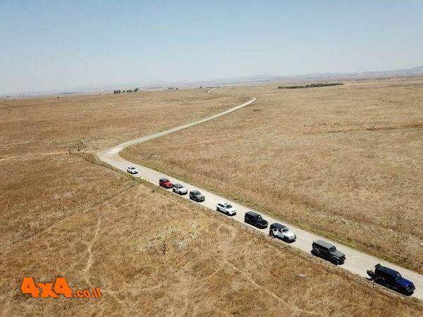 טיול ללקוחות Jeep מסוכנות נצרת בנחלים ממזרח לכנרת 18.7.2020