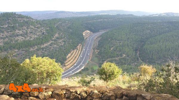 נוף מהמם על כביש ת''א ירושלים ממשלט 16