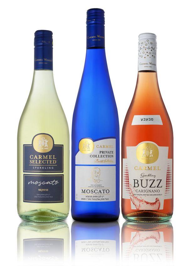 יין מבעבע של יקבי כרמל