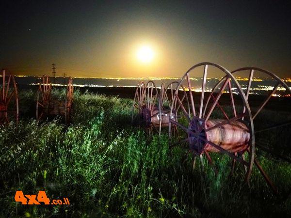 זריחת הירח מעמק בית שאן