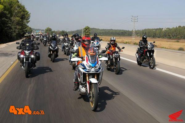 אדום עולה - הונדה אופנועים במסע לגלבוע ולרמת הגולן