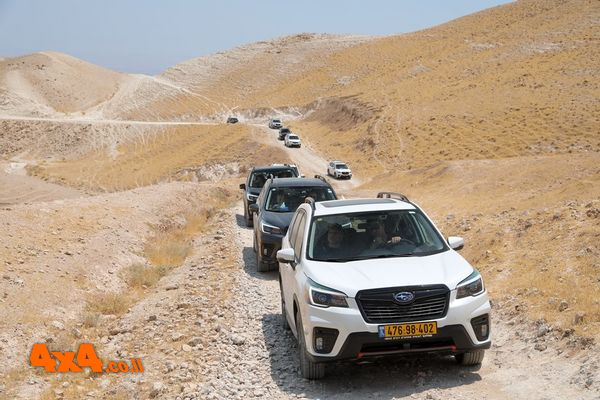 סובארו פורסטר בטיול של ציי רכב סמלת ללב מדבר יהודה