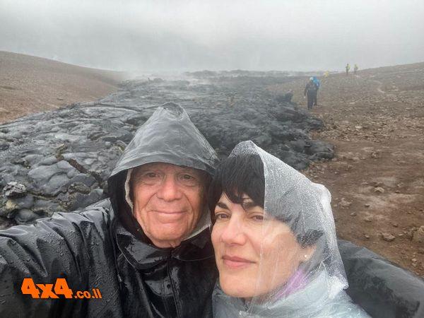 גשם שוטף למרגלות הר הגעש