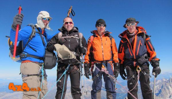מון בלאן 4,810 מ' טיפוס לפסגה הגבוהה במערב אירופה