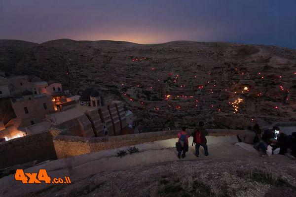 חזיון הנרות במנזר המרסבא