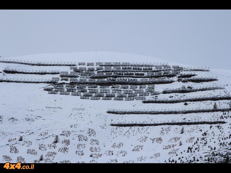 מעברי הרים, שלג וגם תקר בצמיג...