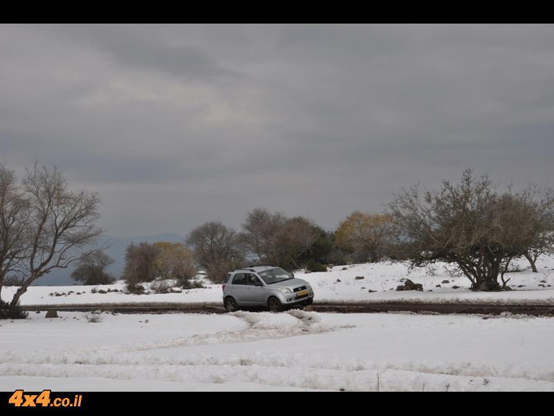 סוף שבוע של שלג בצפון רמת הגולן