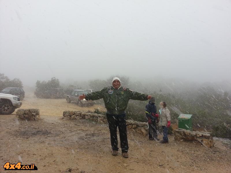 טיול שלג יום שישי בהרי ירושלים - 9.1.15