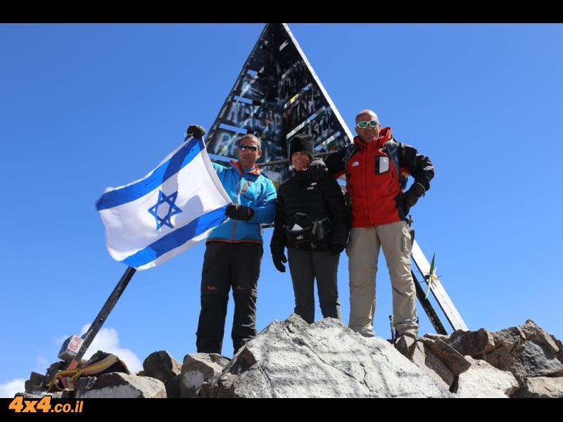 על פסגת הטובקל 4,176 מטרים - ההר הכי גבוה במרוקו