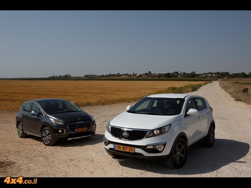 מבחן השוואתי: פיג'ו Peugeot 3008 מול קיה KiA Sportage