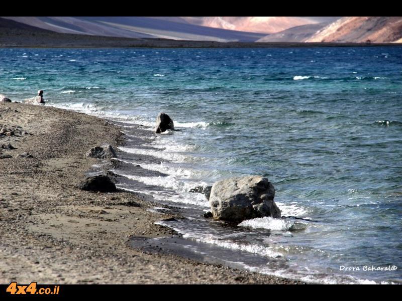 תנועות וגלים וגם משחקים של אור וצל על האגם וסביבתו