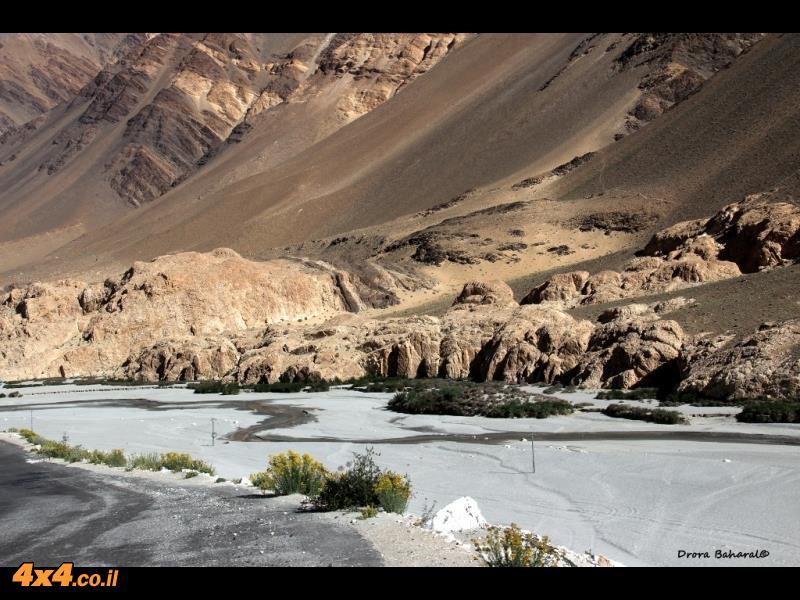 דיונות חול לבן באמצע המדבר