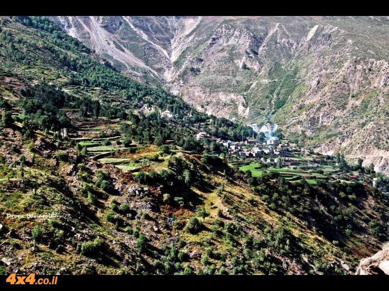 חלקאות טרסות בהרים הגבוהים של עמק לאהול-ספיטי