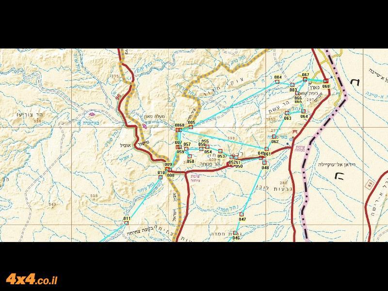 מפת המסלול בקנה מידה של 1/250,000 - חלק ראשון וצפוני