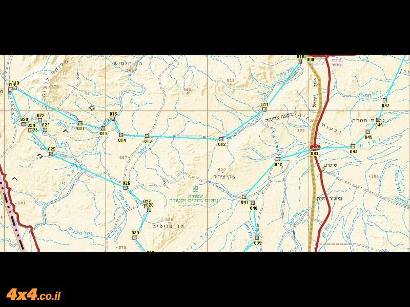 מפת המסלול בקנה מידה של 1/250,000 - חלק שני ומרכזי