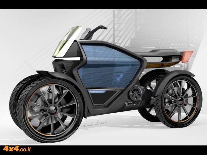 סיטיג'ט – אופנוע עירוני עם הנעה 4X4