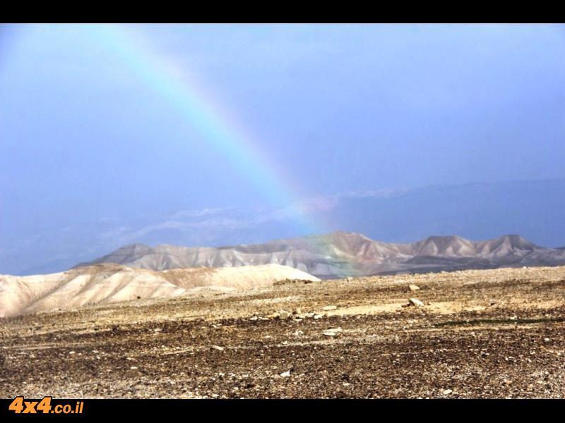 קשת זה תמיד דבר יפה - אבל שזה במדבר זה מרהיב