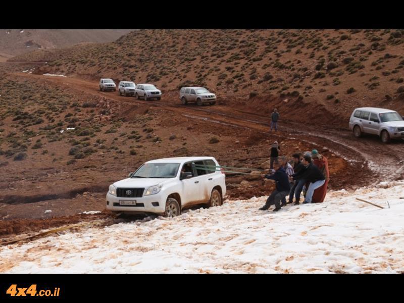 שיאו של היום השלישי - מערכת חילוץ בשיפוע צד בשלג ובבוץ