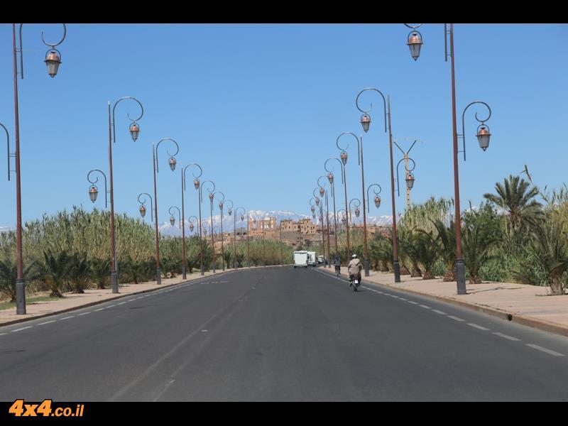 השדרה של וארזאזאת ומצפון רכס האטלס הגבוה