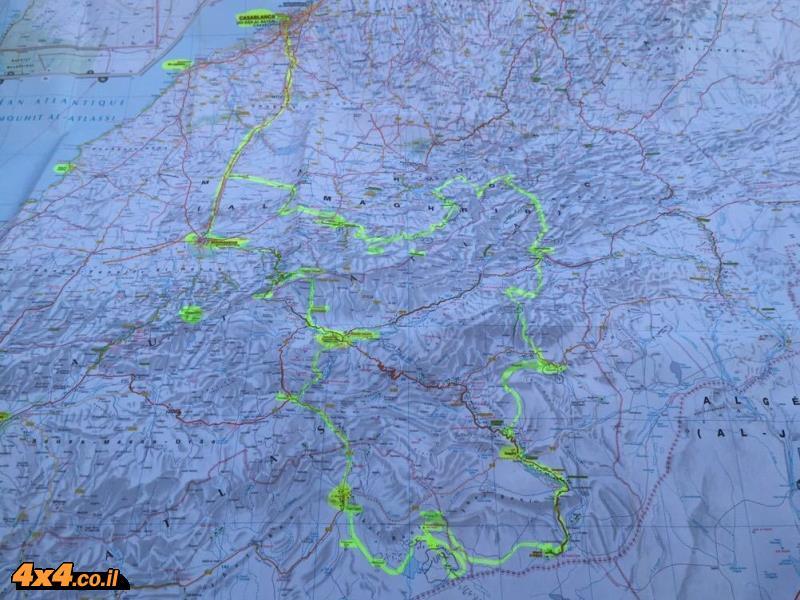 1,450 ק''מ, 6,541 תמונות ומפה לסיכום המסלול