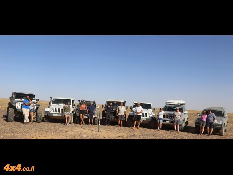 אבן גבול לאורך הגבול הפתוח בין ירדן לערב הסעודית