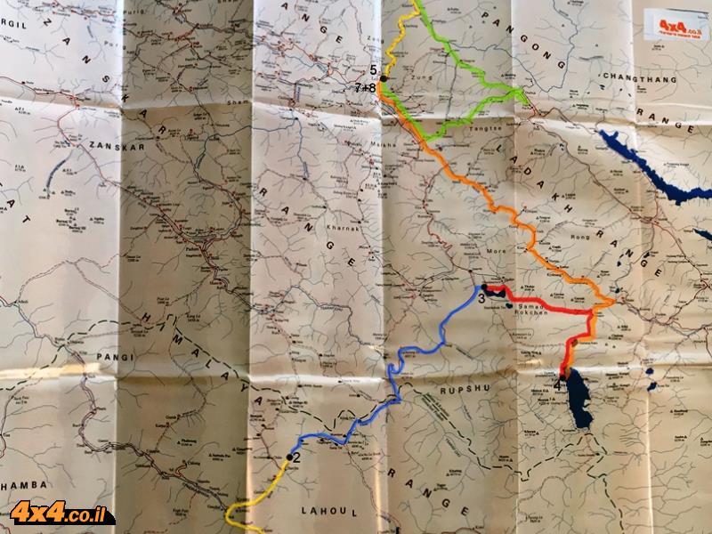 מפת המסע - 1,085 ק