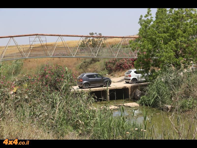 ההשקה בכבישים ולאורך נחל אלכסנדר: