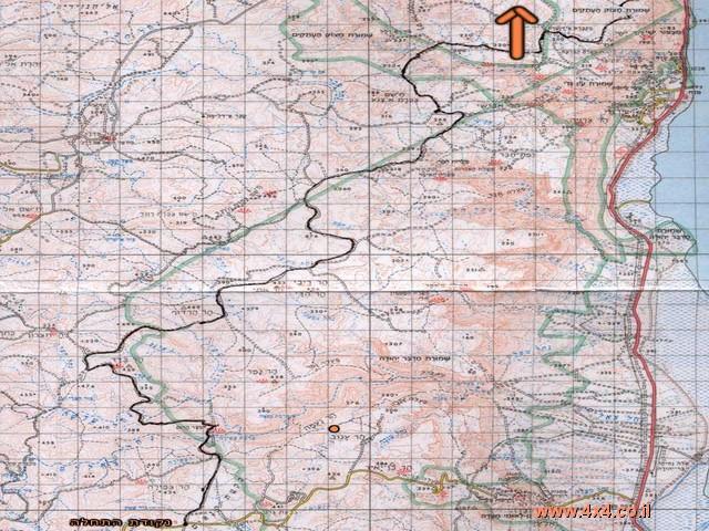 תרשים הטיול- מפה מס' 1
