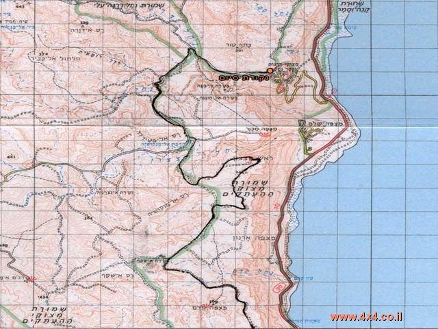 תרשים הטיול- מפה מס' 2