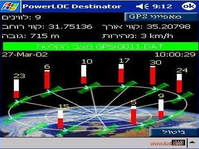 הגדרות GPS