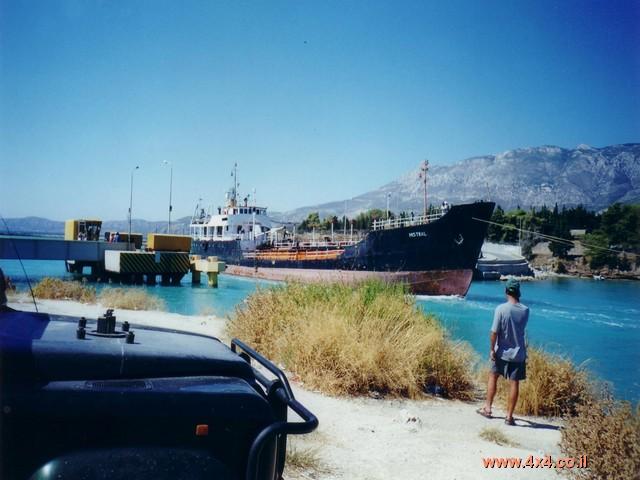הכניסה לתעלת קורינתוס