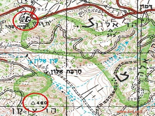 איתור מיקומו במפה