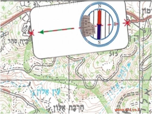 שלב רביעי - סימון המיקום על המפה