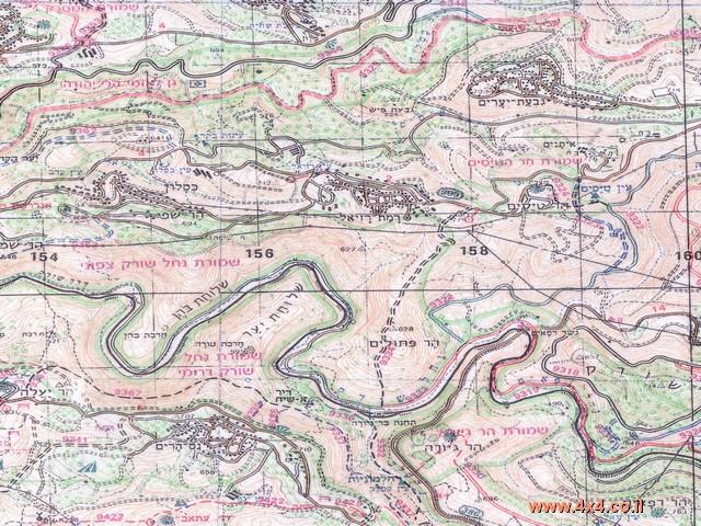 המפה הטופוגרפית
